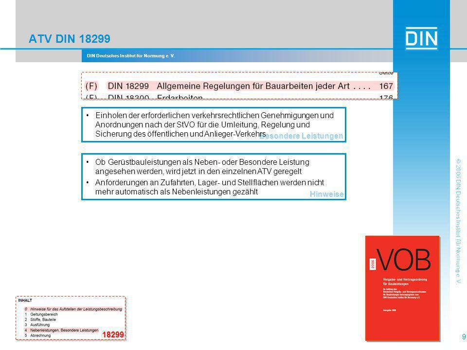 ATV DIN 18299 Besondere Leistungen.