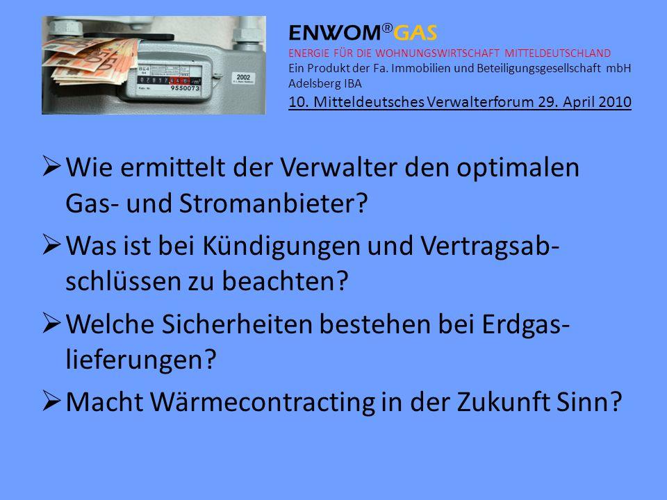 Wie ermittelt der Verwalter den optimalen Gas- und Stromanbieter
