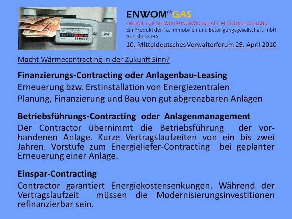 Finanzierungs-Contracting oder Anlagenbau-Leasing