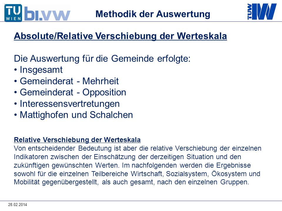 Methodik der Auswertung