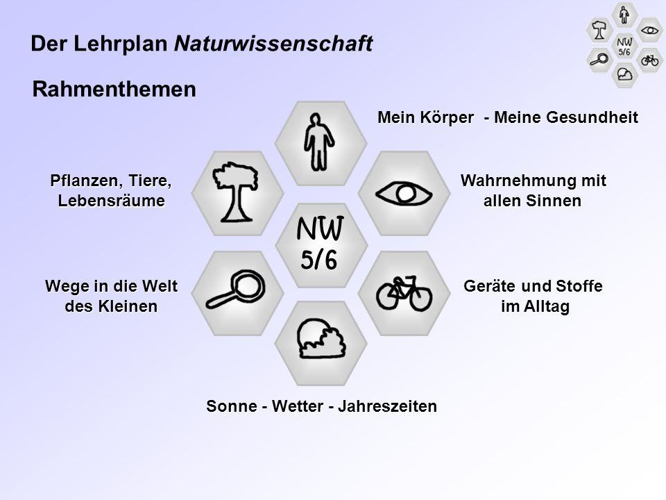 NW 5/6 Der Lehrplan Naturwissenschaft Rahmenthemen