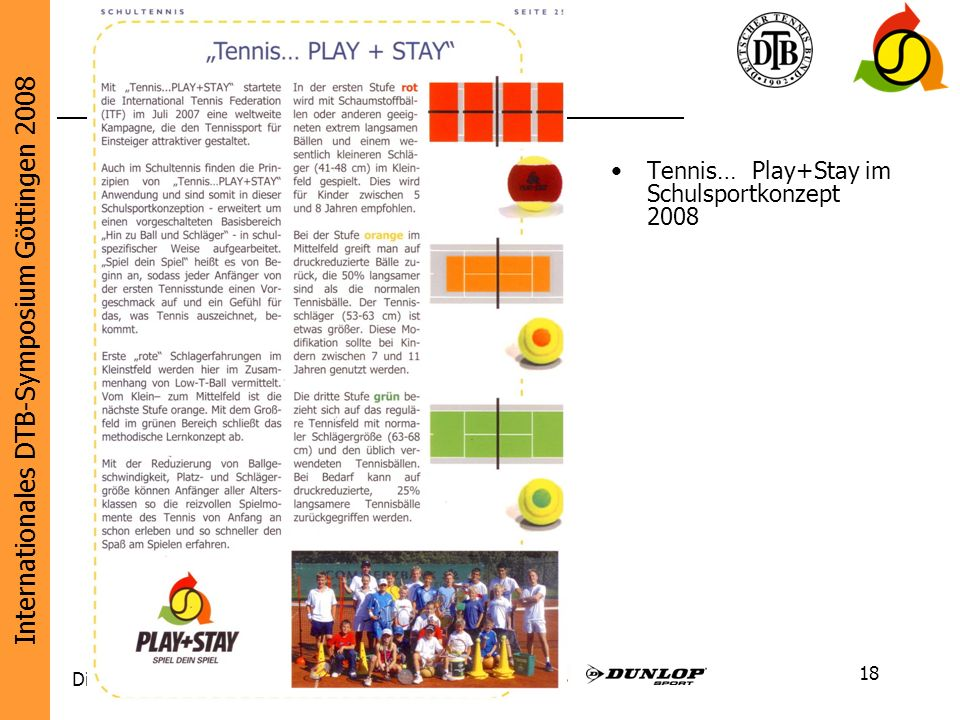 Tennis… Play+Stay im Schulsportkonzept 2008