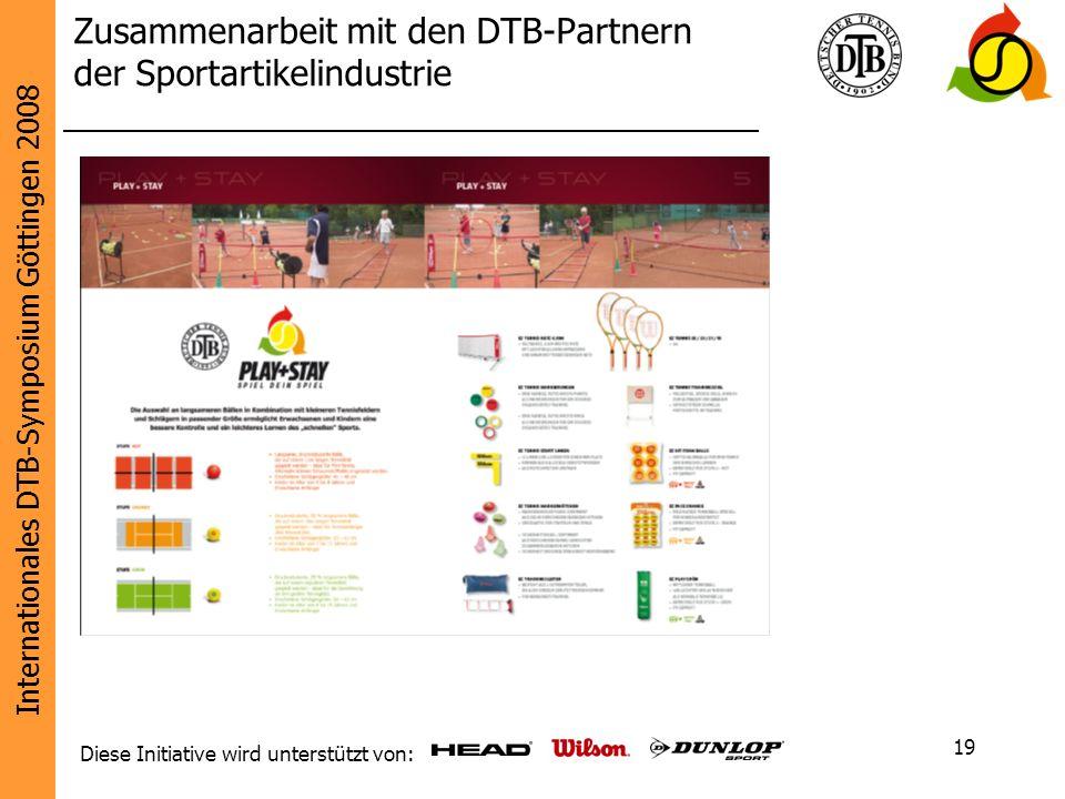 Zusammenarbeit mit den DTB-Partnern der Sportartikelindustrie