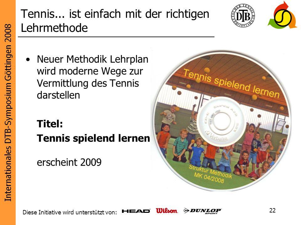 Tennis... ist einfach mit der richtigen Lehrmethode