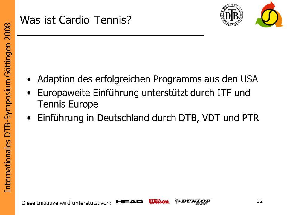 Was ist Cardio Tennis Adaption des erfolgreichen Programms aus den USA. Europaweite Einführung unterstützt durch ITF und Tennis Europe.