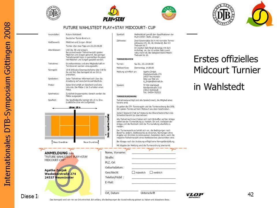Erstes offizielles Midcourt Turnier