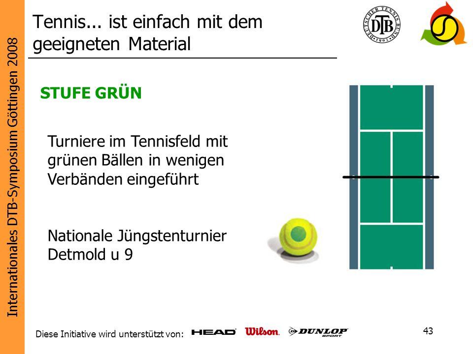 Tennis... ist einfach mit dem geeigneten Material