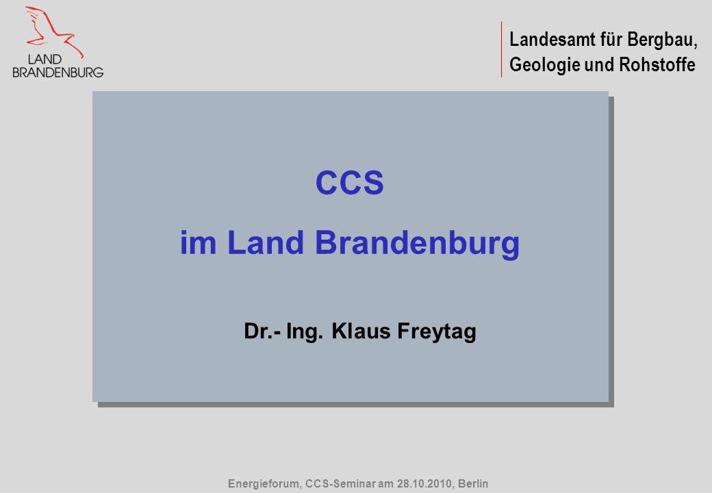 CCS im Land Brandenburg