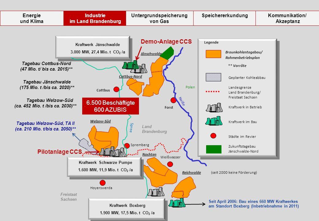 Demo-Anlage CCS 6.500 Beschäftigte 600 AZUBIS Pilotanlage CCS Energie