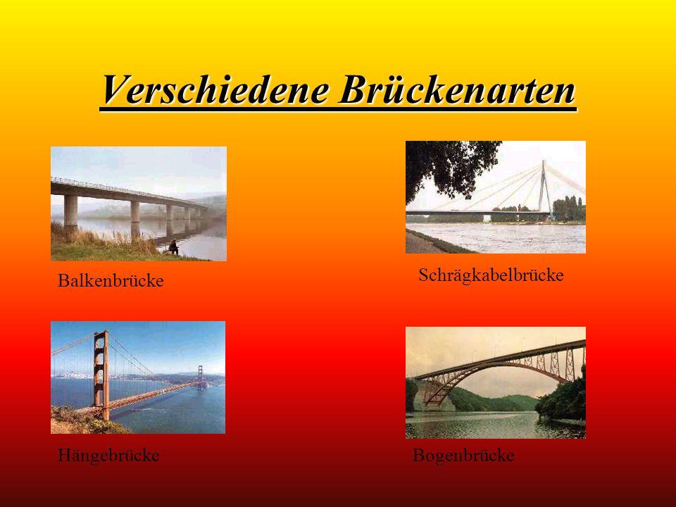 Verschiedene Brückenarten