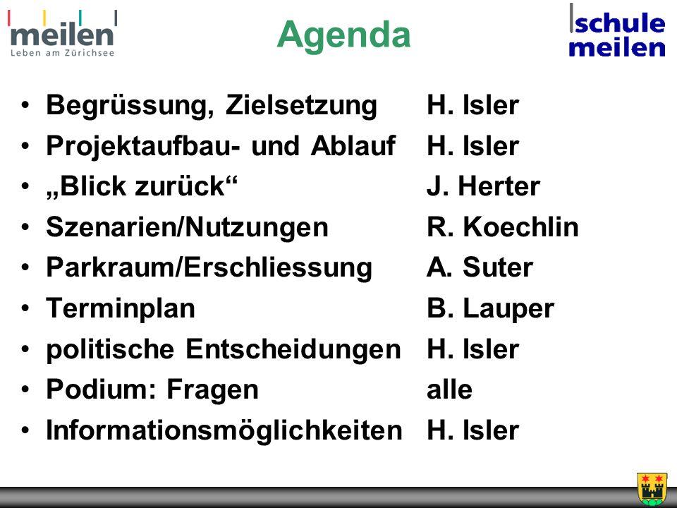 Agenda Begrüssung, Zielsetzung H. Isler