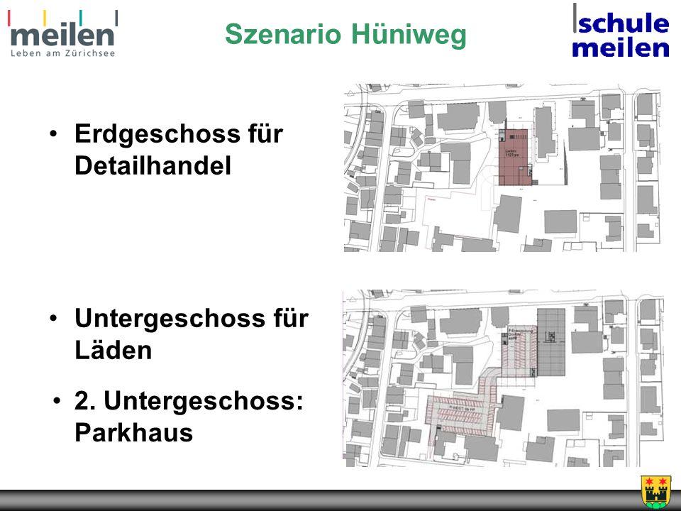 Szenario Hüniweg Erdgeschoss für Detailhandel Untergeschoss für Läden
