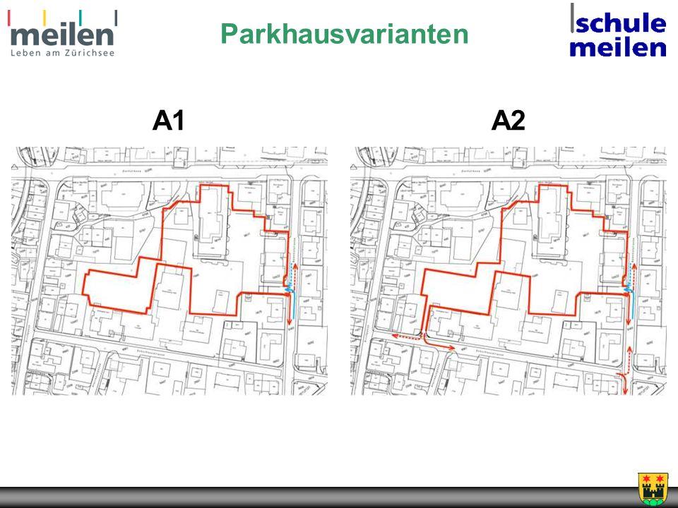 Parkhausvarianten A1 A2