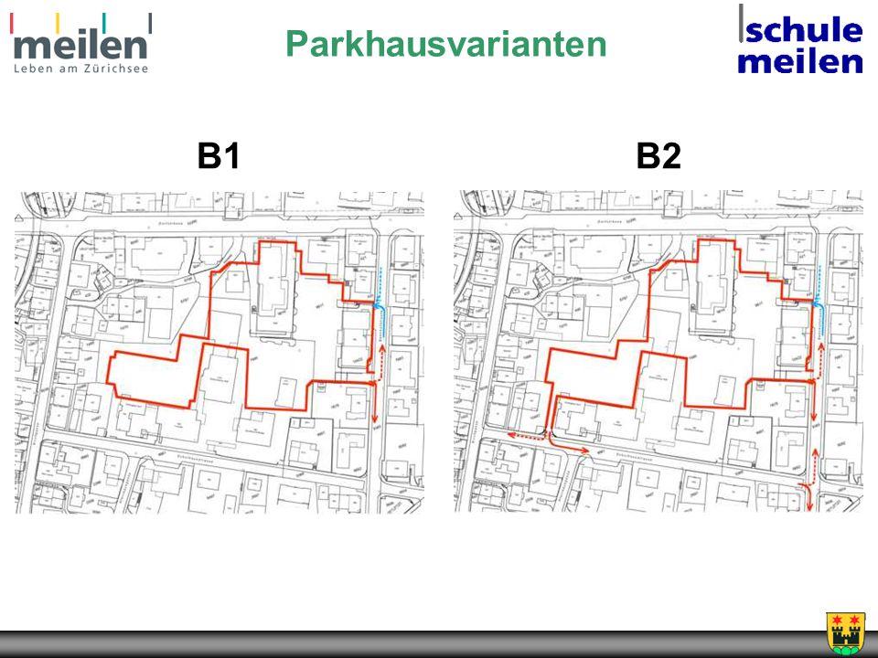 Parkhausvarianten B1 B2