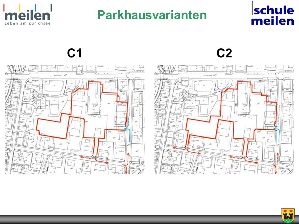 Parkhausvarianten C1 C2