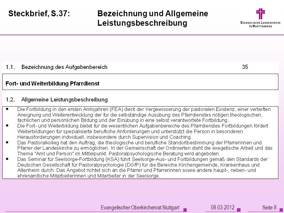 Steckbrief, S.37: Bezeichnung und Allgemeine Leistungsbeschreibung