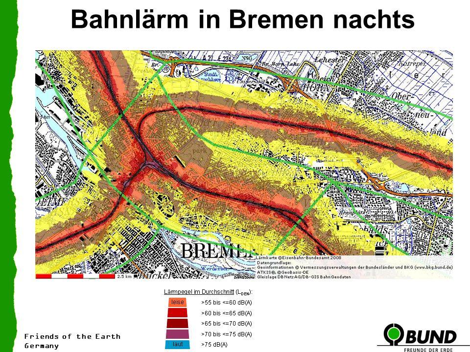 Bahnlärm in Bremen nachts