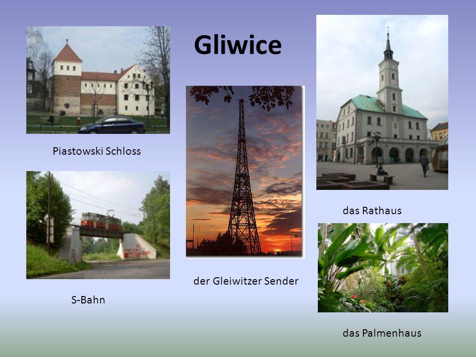 Gliwice Piastowski Schloss das Rathaus der Gleiwitzer Sender S-Bahn