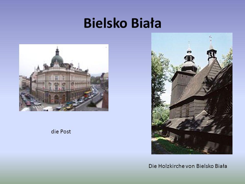 Bielsko Biała die Post Die Holzkirche von Bielsko Biała