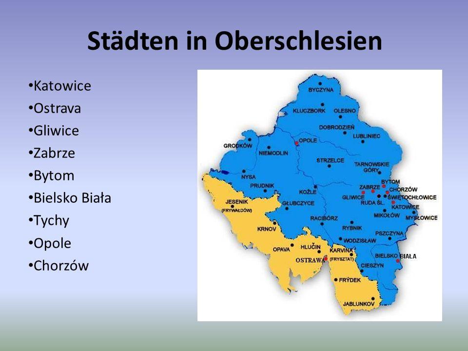 Städten in Oberschlesien