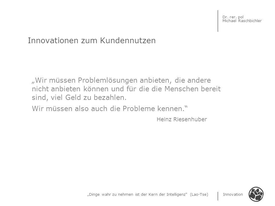 Innovationen zum Kundennutzen