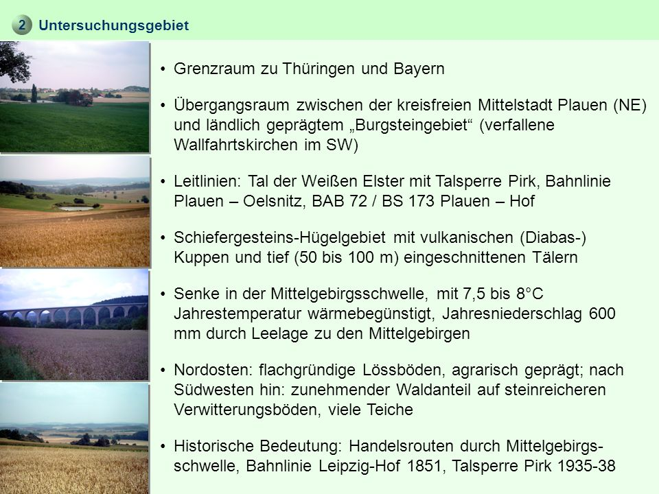 Grenzraum zu Thüringen und Bayern