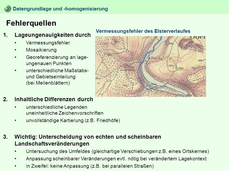 Datengrundlage und -homogenisierung