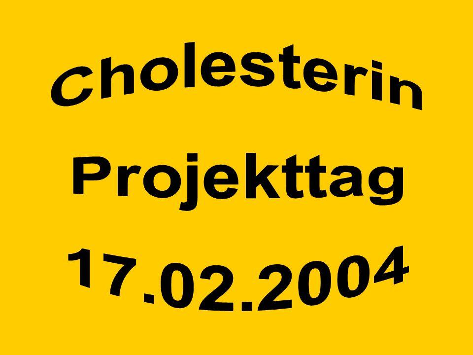 Cholesterin Projekttag 17.02.2004