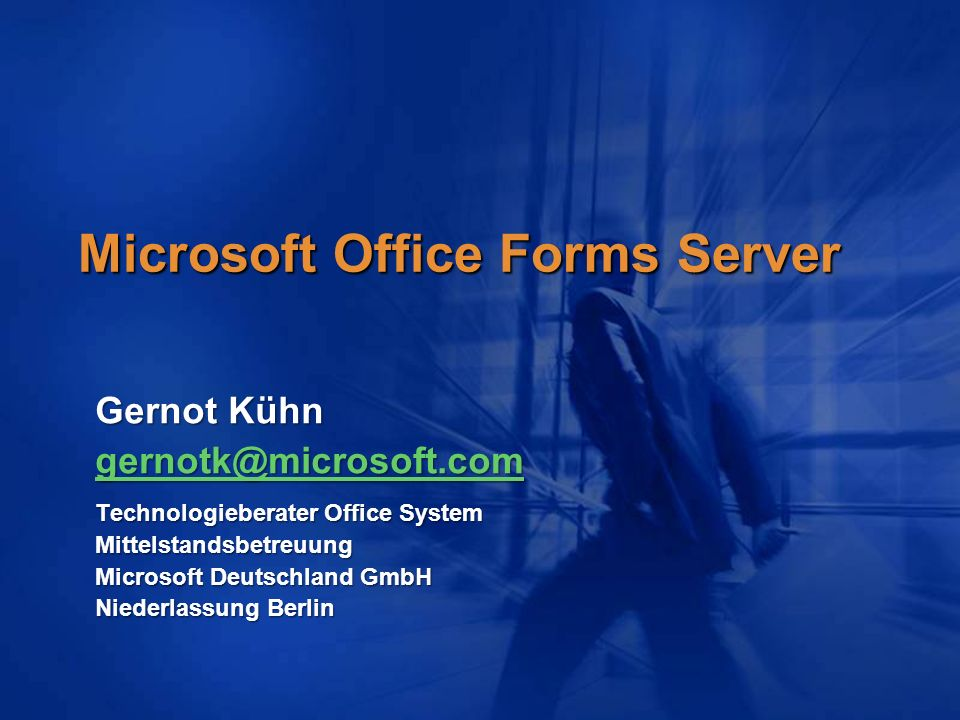 Microsoft Office Forms Server