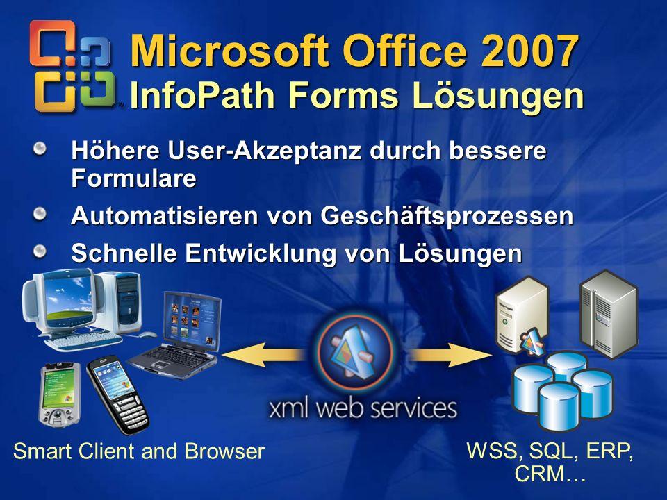 Microsoft Office 2007 InfoPath Forms Lösungen