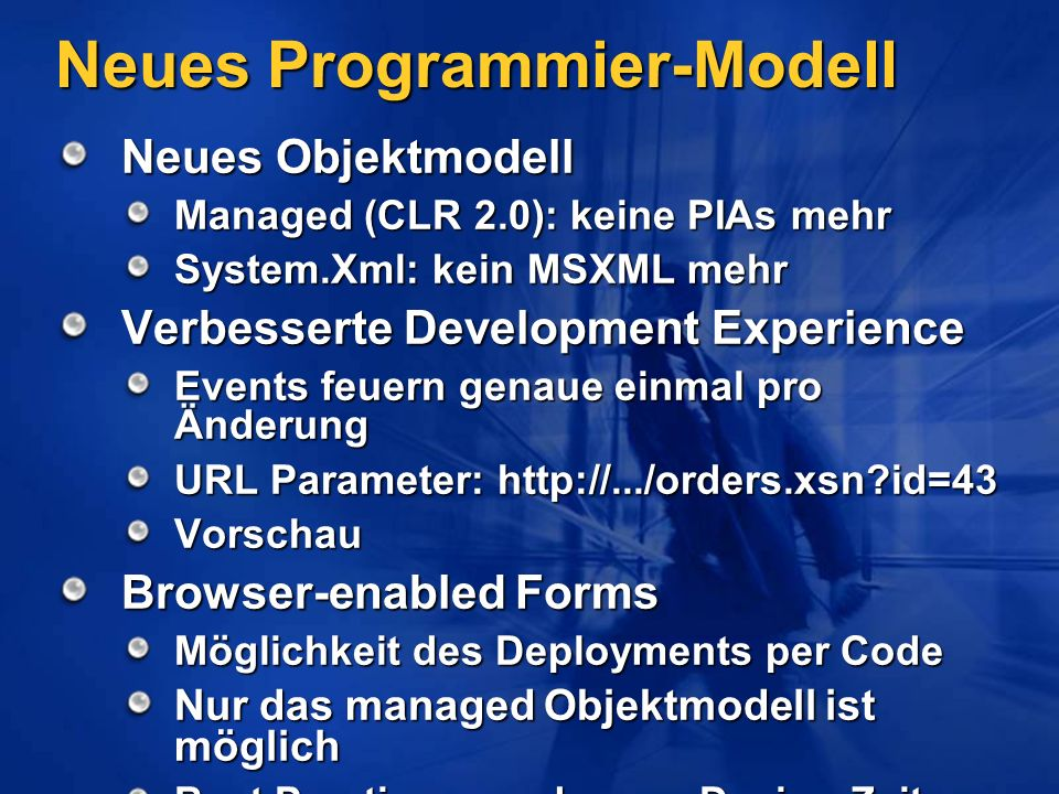 Neues Programmier-Modell