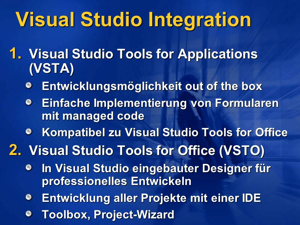 Visual Studio Integration