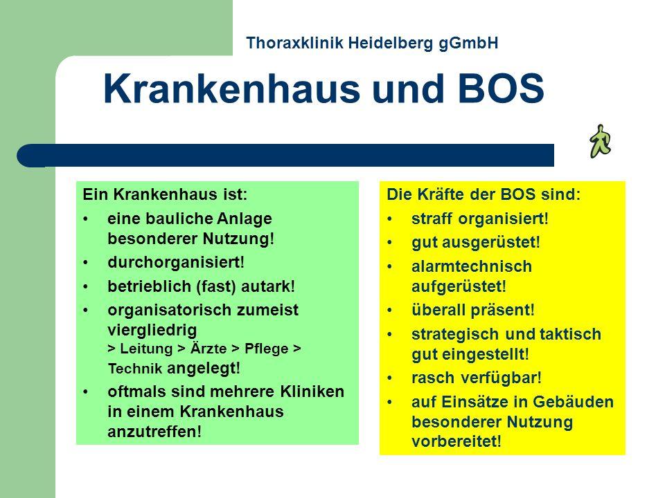 Krankenhaus und BOS Thoraxklinik Heidelberg gGmbH Ein Krankenhaus ist: