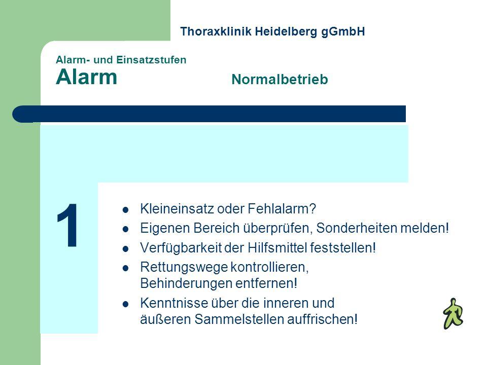 Alarm- und Einsatzstufen Alarm Normalbetrieb