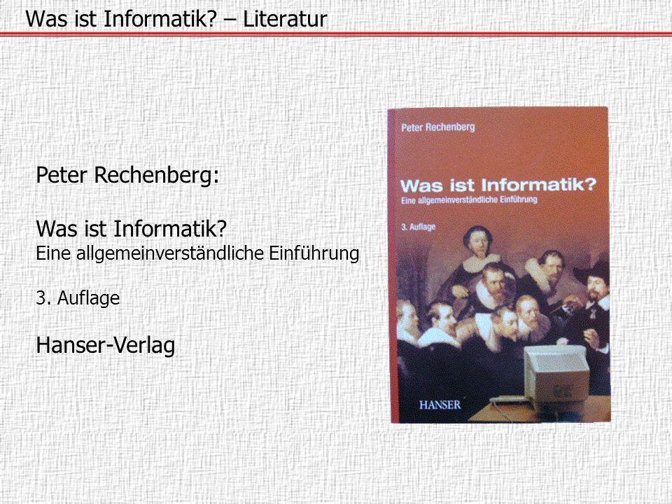 Was ist Informatik – Literatur