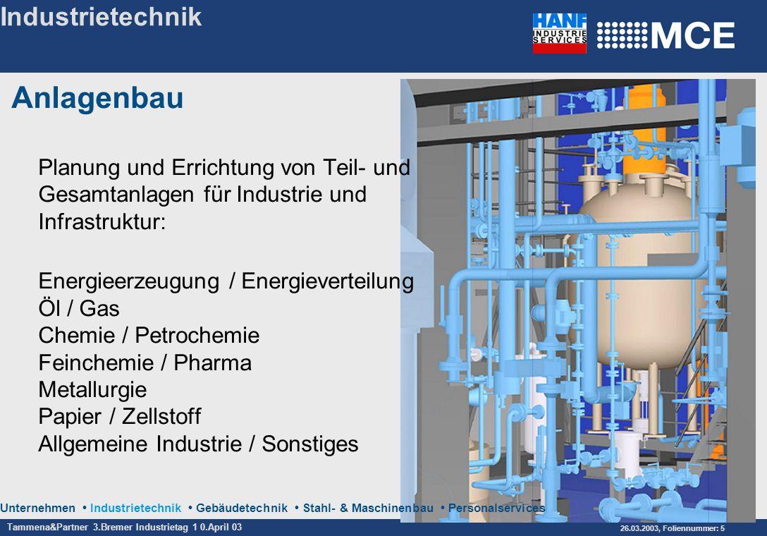Anlagenbau Industrietechnik
