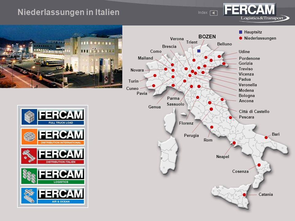 Niederlassungen in Italien