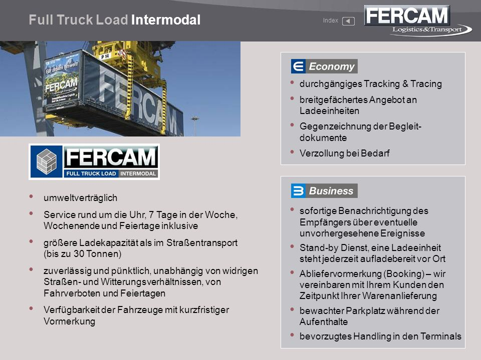 Full Truck Load Intermodal