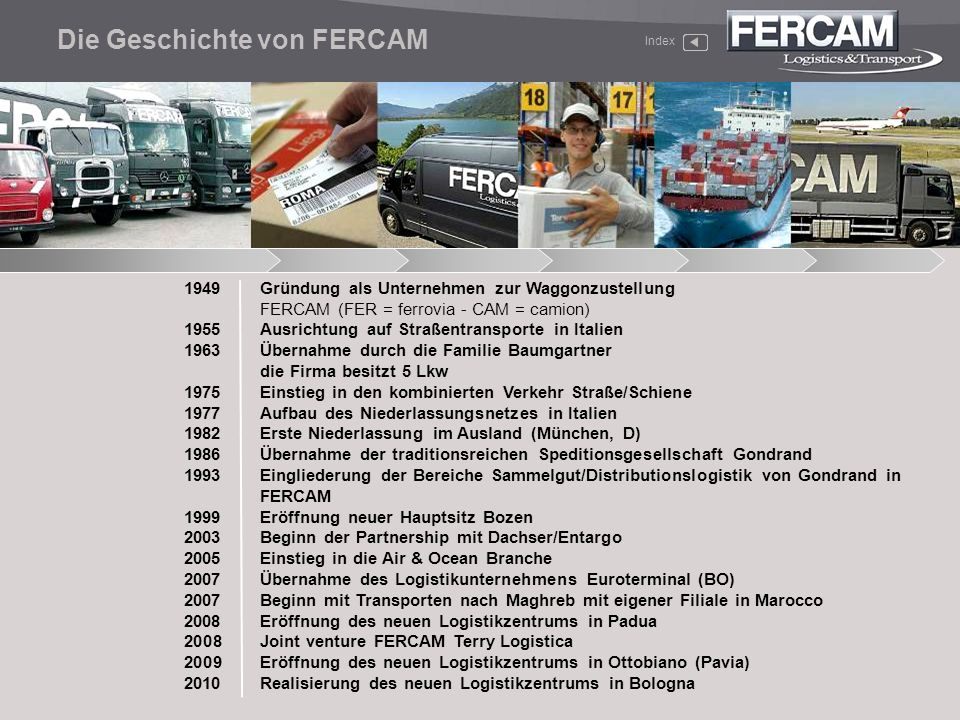 Die Geschichte von FERCAM