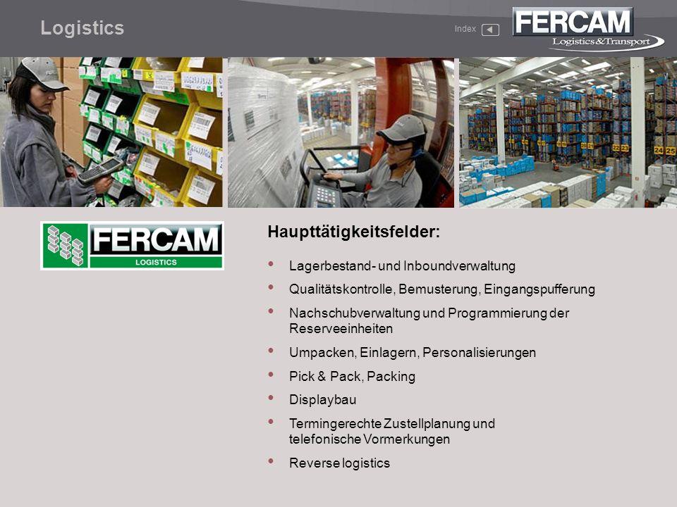 Logistics Haupttätigkeitsfelder: Lagerbestand- und Inboundverwaltung