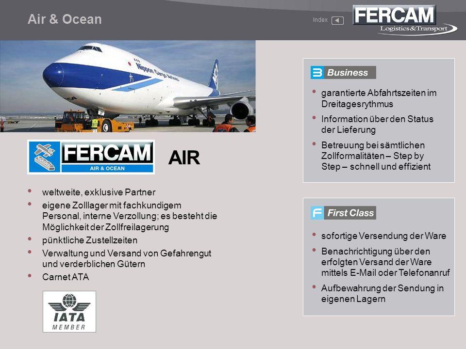 AIR Air & Ocean garantierte Abfahrtszeiten im Dreitagesrythmus