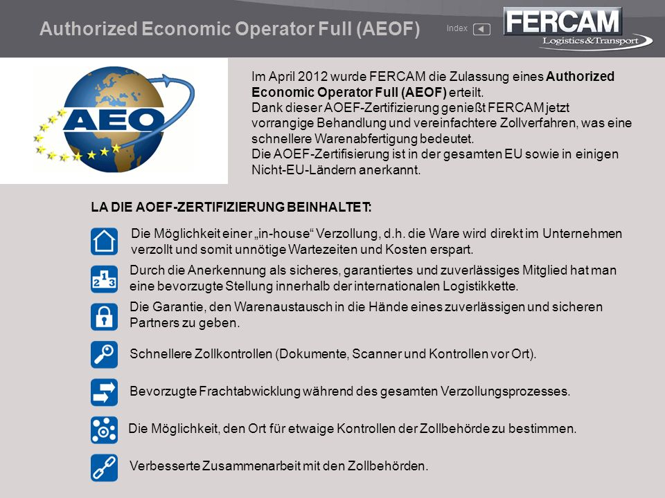 Authorized Economic Operator Full (AEOF)