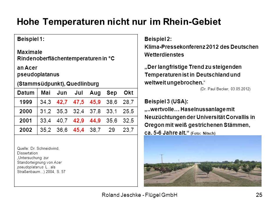 Hohe Temperaturen nicht nur im Rhein-Gebiet