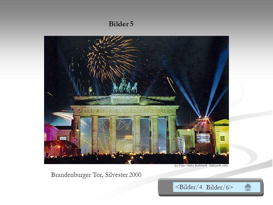 Bilder 5 Brandenburger Tor, Silvester 2000 <Bilder/4 Bilder/6>
