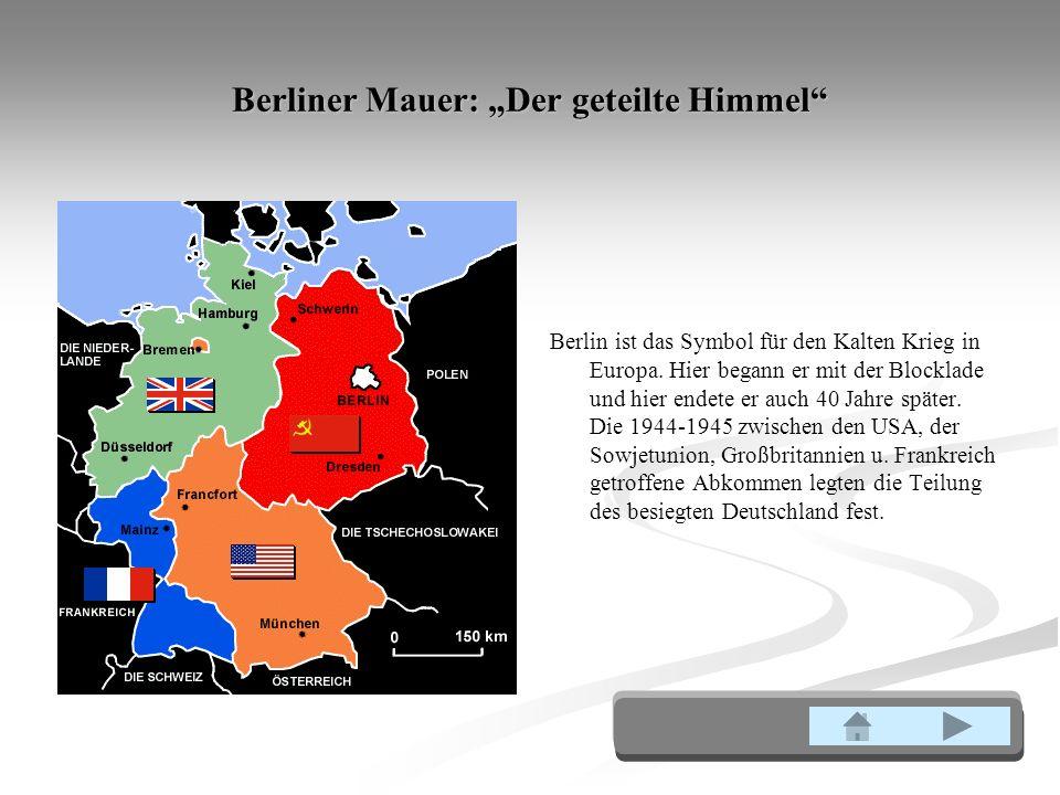 """Berliner Mauer: """"Der geteilte Himmel"""