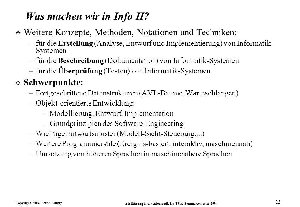 Was machen wir in Info II