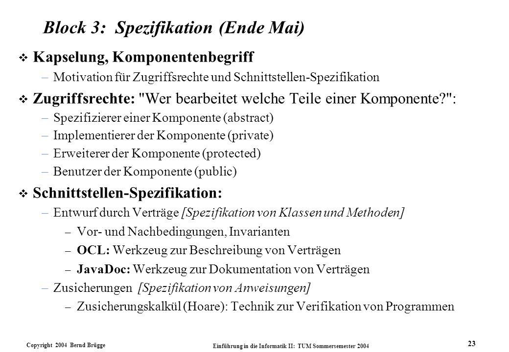 Block 3: Spezifikation (Ende Mai)