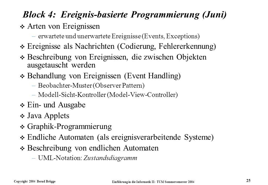 Block 4: Ereignis-basierte Programmierung (Juni)
