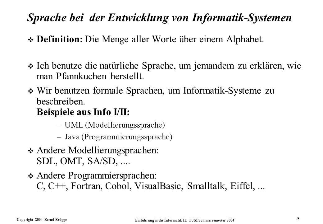 Sprache bei der Entwicklung von Informatik-Systemen