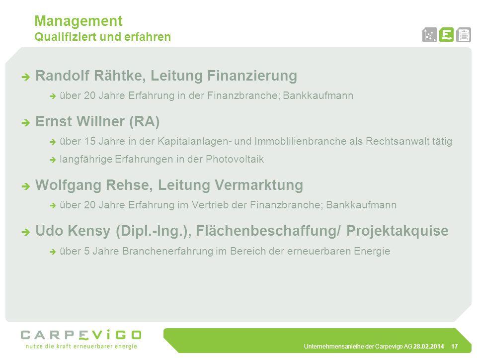 Management Qualifiziert und erfahren